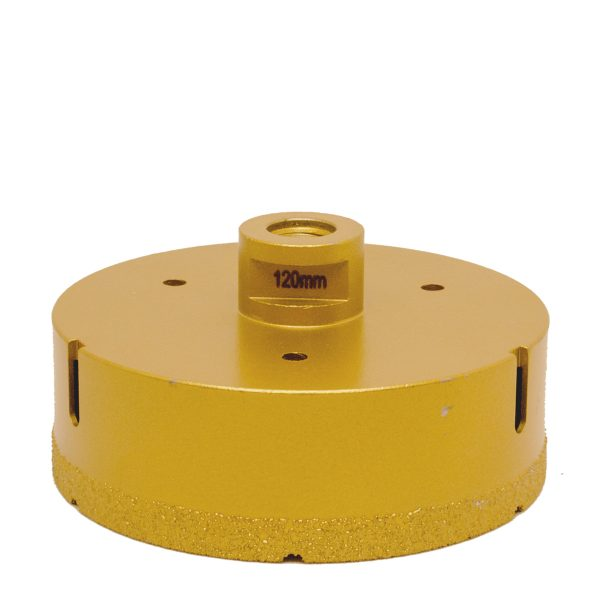 120 mm diamantbor til tørboring i fliser