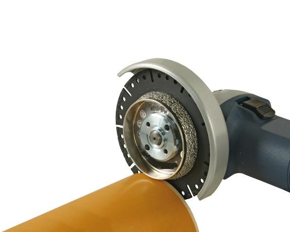 DuoComplete Diamantklinge til skæring og affasning af PVC rør i én arbejdsgang