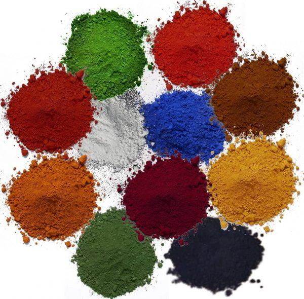 Rivalds farvepigmenter er alle mikroniserede og lysægte