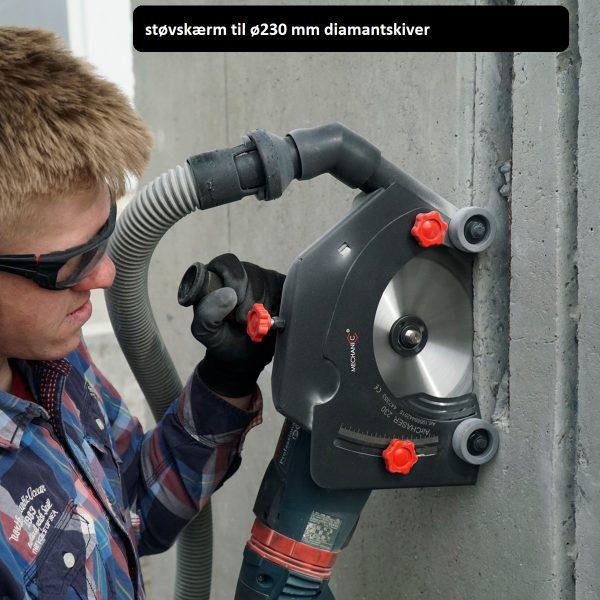 AirCHASER - Sugeskærm til vinkelsliber 230 mm – slut med støv
